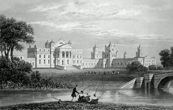 ANTIQUE PRINT: BLENHEIM HOUSE, OXFORDSHIRE. THE SEAT OF HIS GRACE THE DUKE OF MARLBORO.