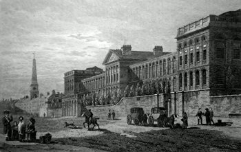 ANTIQUE PRINT: ST. LUKE'S HOSPITAL, OLD STREET ROAD.