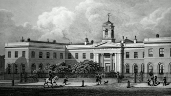 ANTIQUE PRINT: ASYLUM FOR FEMALE ORPHANS, WESTMINSTER.