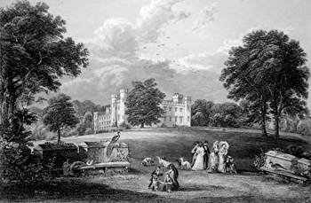 ANTIQUE PRINT: SCONE PALACE.