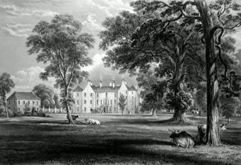 ANTIQUE PRINT: BALCASKIE HOUSE.