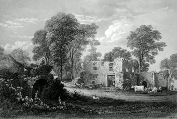 ANTIQUE PRINT: ABBEY OF BALMERINO.