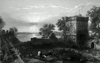 ANTIQUE PRINT: CASTLE OF LOCH LEVEN.