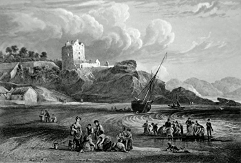 Antique print of Fife