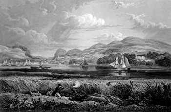 ANTIQUE PRINT: NEWBURGH.