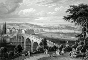 Antique print of Perth