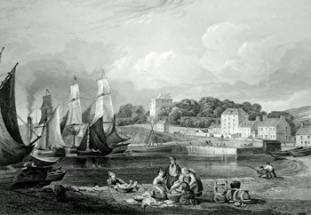 ANTIQUE PRINT: BURNTISLAND.