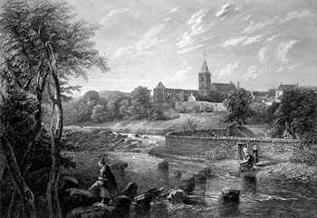 ANTIQUE PRINT: DUNBLANE.