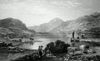 ANTIQUE PRINT: LOCH ECK.