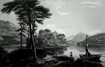 ANTIQUE PRINT: LOCH AWE.