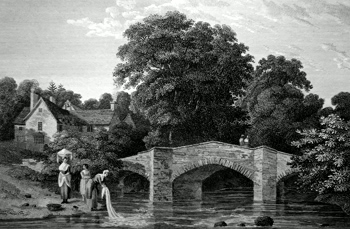 Antique print of Pontypool