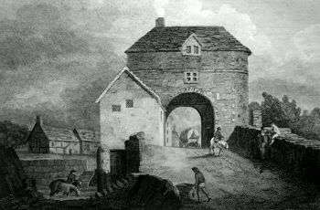 Antique print of Monmouth