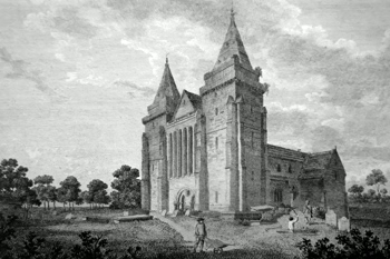 ANTIQUE PRINT: OLD ABERDEEN, CATHEDRAL.