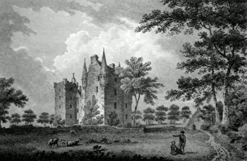 ANTIQUE PRINT: CASTLE-STEWART, INVERNESSHIRE.