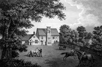 ANTIQUE PRINT: BOSCOBEL HOUSE, STAFFORDSHIRE.