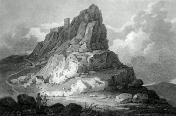ANTIQUE PRINT: [BRENTOR] BREN-TOR AND CHURCH, DEVONSHIRE.