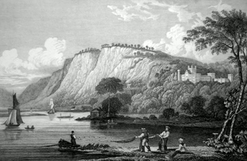 ANTIQUE PRINT: KINFAUNS CASTLE, PERTHSHIRE.