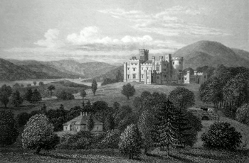 ANTIQUE PRINT: CASTLE TOWARD, ARGYLESHIRE.