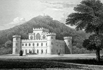 ANTIQUE PRINT: INVERARY CASTLE, ARGYLESHIRE.