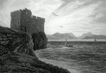 ANTIQUE PRINT: MINGARRY CASTLE, ARGYLESHIRE.