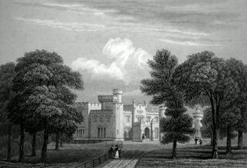 ANTIQUE PRINT: BALLOCH CASTLE, DUMBARTONSHIRE.