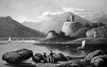 ANTIQUE PRINT: DUNOLLY CASTLE, NEAR OBAN. ARGYLESHIRE.