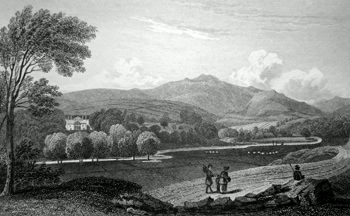 ANTIQUE PRINT: MURTHLY. PERTHSHIRE.