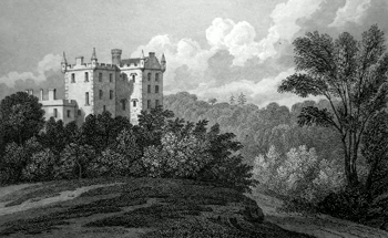 ANTIQUE PRINT: CASTLE HUNTLY, PERTHSHIRE.
