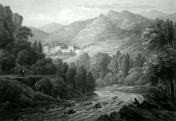 ANTIQUE PRINT: BONSKEID, PERTHSHIRE.