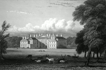 ANTIQUE PRINT: DALKEITH PALACE, MID LOTHIAN.