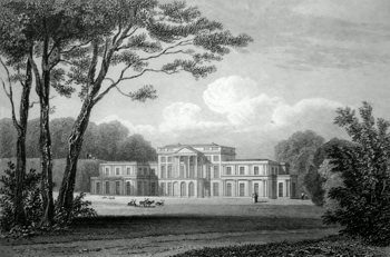 ANTIQUE PRINT: THE HAINING, (NORTH FRONT) SELKIRKSHIRE.