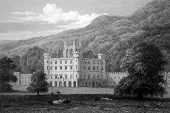 ANTIQUE PRINT: TAYMOUTH CASTLE. PERTHSHIRE.