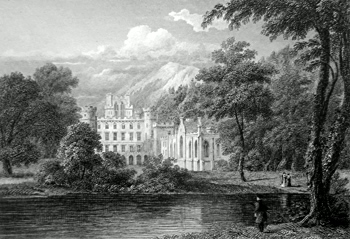 ANTIQUE PRINT: TAYMOUTH CASTLE. 2ND VIEW. PERTHSHIRE.
