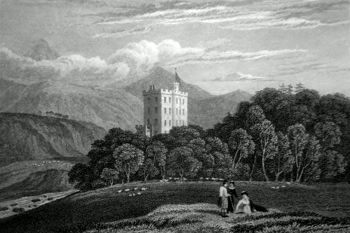 ANTIQUE PRINT: MOUNT ALEXANDER. PERTHSHIRE.