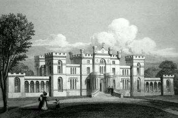 ANTIQUE PRINT: ROSSIE CASTLE, FORFARSHIRE.
