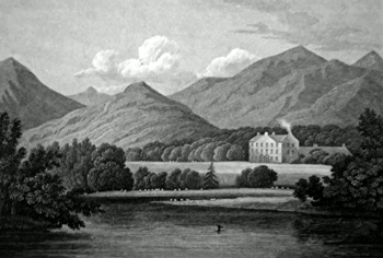 ANTIQUE PRINT: FASKALLY, PERTHSHIRE.