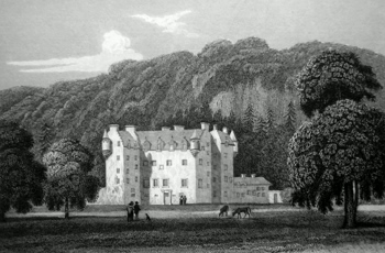 ANTIQUE PRINT: CASTLE MENZIES. PERTHSHIRE.