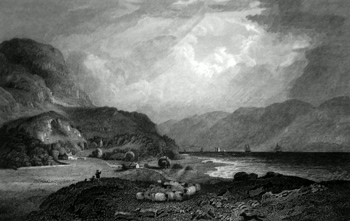 ANTIQUE PRINT: LOCH LOCHY.