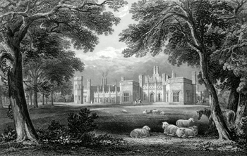 ANTIQUE PRINT: INCHRYE ABBEY.