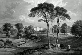 ANTIQUE PRINT: LESLIE HOUSE.