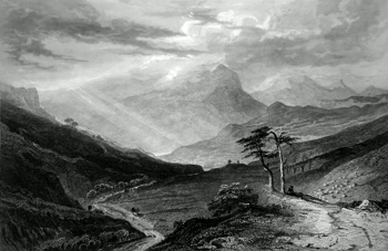 ANTIQUE PRINT: GLEN ERICHT.