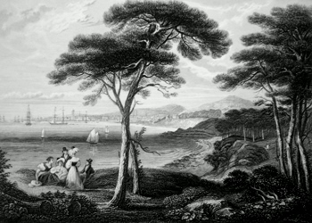 ANTIQUE PRINT: DUNDEE FROM BROUGHTY FERRY.