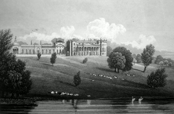 ANTIQUE PRINT: BOWOOD PARK, WILTSHIRE.