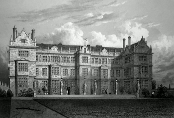ANTIQUE PRINT: MONTACUTE HOUSE. EAST FRONT. SOMERSETSHIRE.