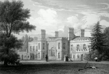 ANTIQUE PRINT: WICK HOUSE, SOMERSETSHIRE.