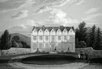 ANTIQUE PRINT: BECKFORD HALL. GLOUCESTERSHIRE.