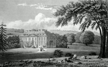 ANTIQUE PRINT: RAMSBURY MANOR, WILTSHIRE.