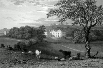 ANTIQUE PRINT: LOWESBY HALL, LEICESTERSHIRE.