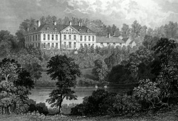 ANTIQUE PRINT: LOWESBY HALL, SOUTH VIEW. LEICESTERSHIRE.