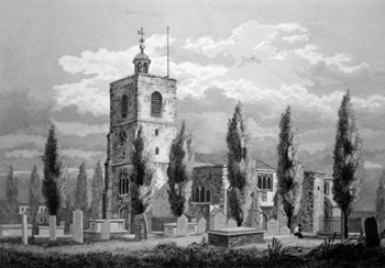 ANTIQUE PRINT: ST. DUNSTANS STEPNEY.